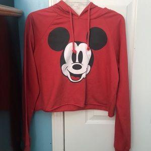 Mickey mouse crop sweatshirt